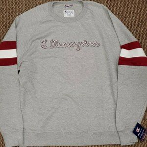 NWT Champion Powerblend Athleticwear Gray Crewneck